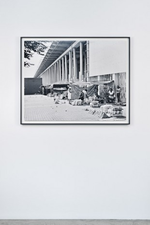 David Goldblatt, Street traders and the colonnade of the Walter Sisulu Square of Dedication, Kliptown, Soweto. 7 February 2014., , Marian Goodman Gallery