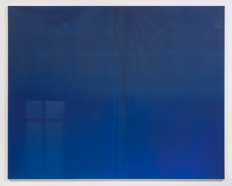 Sayre Gomez, Untitled Painting in Dark Blue over Cerulean, 2014, Ghebaly Gallery