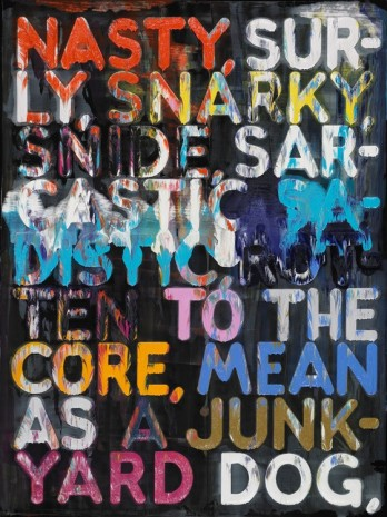 Mel Bochner, Nasty, 2009, Simon Lee Gallery