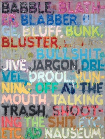 Mel Bochner, Babble, 2013, Simon Lee Gallery