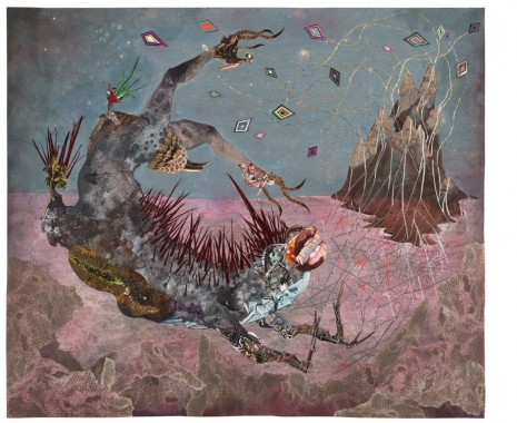 Wangechi Mutu, The screamer island dreamer, 2014, Victoria Miro Gallery