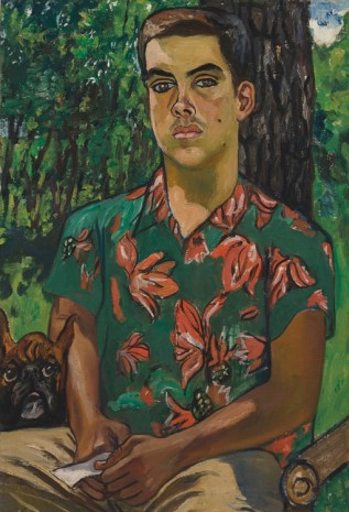Alice Neel, Richard with Dog, 1954, Victoria Miro Gallery