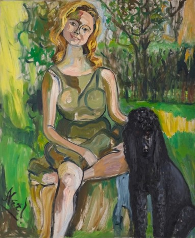 Alice Neel, Carol with a Dog, 1962, Victoria Miro Gallery