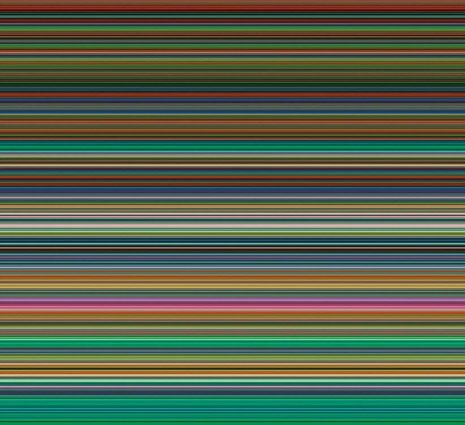 Gerhard Richter, Strip 927-7, 2012, Marian Goodman Gallery