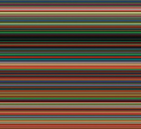 Gerhard Richter, Strip 927-11, 2012, Marian Goodman Gallery