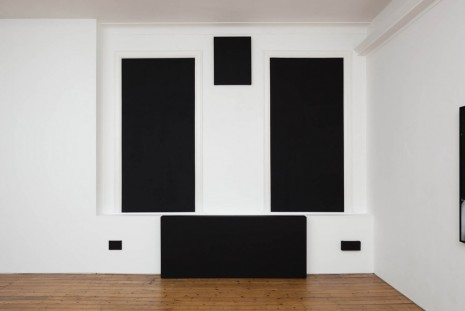 Amanda Ross-Ho, PAINTINGS TO DISGUISE A SET OF ARCHITECTURAL ELEMENTS (INVERTED/BLACKOUT), 2011-2014, The Approach