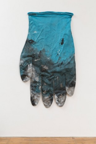 Amanda Ross-Ho, BLUE GLOVE RIGHT #1, 2014, The Approach