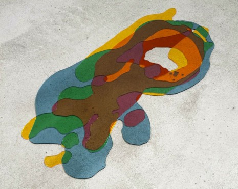 David Musgrave, Poured Figures Overlapping, 2003, Marc Foxx (closed)