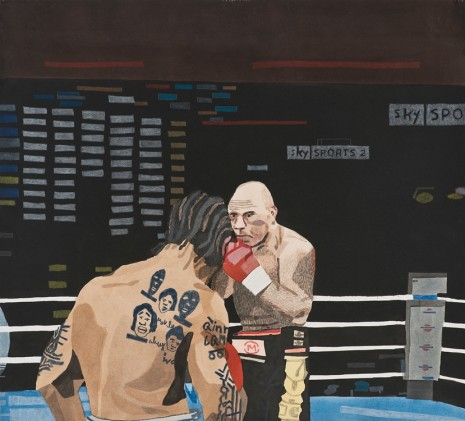 Jonas Wood, Bowe V. Valuev, 2014 , David Kordansky Gallery