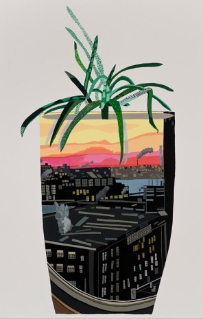 Jonas Wood, Maritime Hotel Pot with Aloe, 2014, David Kordansky Gallery