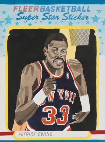 Jonas Wood, Ewing Sticker Card, 2014, David Kordansky Gallery