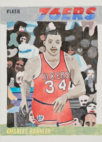 Jonas Wood, Charles Barkley, 2009, David Kordansky Gallery
