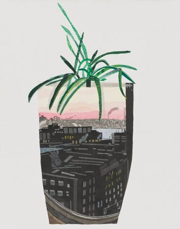 Jonas Wood, Maritime Sunset Landscape Pot, 2014, David Kordansky Gallery