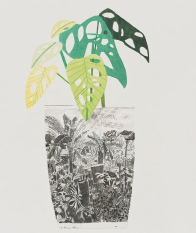 Jonas Wood, Tropical Interior Landscape Pot, 2014, David Kordansky Gallery