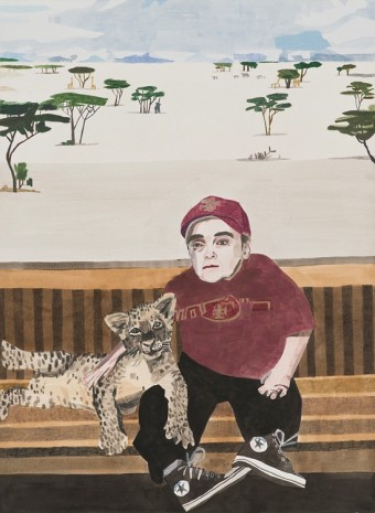 Jonas Wood, Eric the Actor (ETM), 2010, David Kordansky Gallery