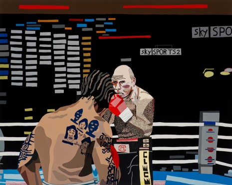 Jonas Wood, 2 Boxers, 2014, David Kordansky Gallery