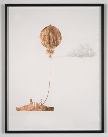Caroline Rothwell, Tethered Marine Balloon Particle Injector, 2014, Roslyn Oxley9 Gallery