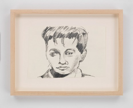 Mark Gonzales, tony curtis sketch exchanged for miles of dialog over the rebuffed vertchion of the film staying alive staring Travolta, 2014, Hauser & Wirth