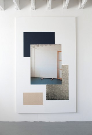 Ian Wallace, In the Studio with Canvas II, 2014, Hauser & Wirth