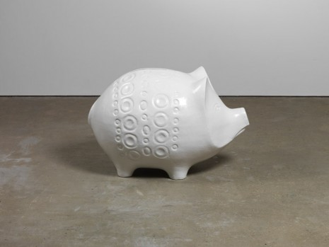 Jonathan Monk, Pig (white), 2012, Lisson Gallery