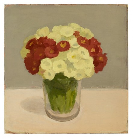 Albert York, Yellow and Red Primroses in Glass Jar, 1978, Matthew Marks Gallery