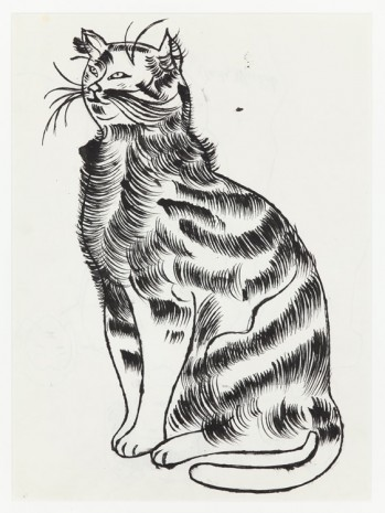 Andy Warhol, Seated Cat, c. 1956, Anton Kern Gallery