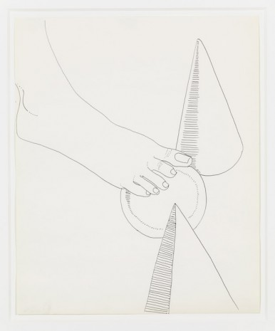 Andy Warhol, Foot and Geometric Shapes, 1961, Anton Kern Gallery
