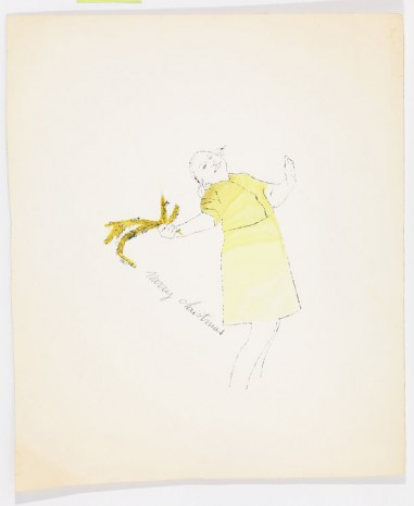 Andy Warhol, Female Holding Fir Branch, c. 1956, Anton Kern Gallery