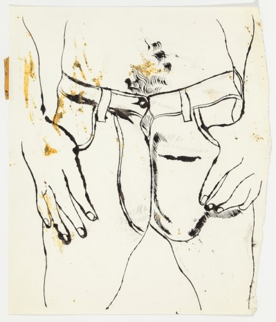Andy Warhol, Male Lower Torso Thumbs in Pockets, c. 1956, Anton Kern Gallery