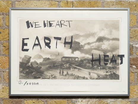 Ei Arakawa and Karl Holmqvist, Untitled (WE HEART EARTH HEAT), 2014, Hollybush Gardens