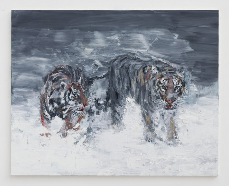 Yan Pei-Ming, Wild Game: Second Way of the Tigers, 2014, Galerie Thaddaeus Ropac