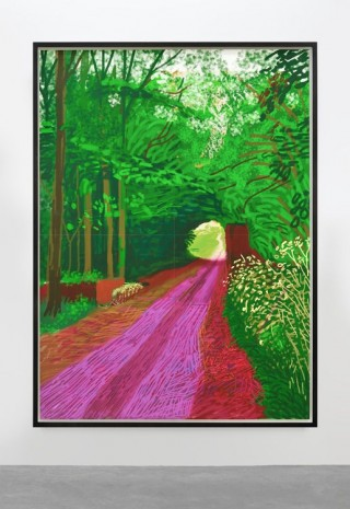 David Hockney, The Arrival of Spring in Woldgate, East Yorkshire in 2011 (twenty eleven), 31 May, No. 1 2011, 2011, Almine Rech Gallery