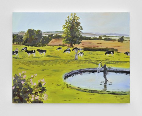 Karen Kilimnik, the francy pretty farm - the happy cows grazing by the fountain, 2012, Almine Rech Gallery