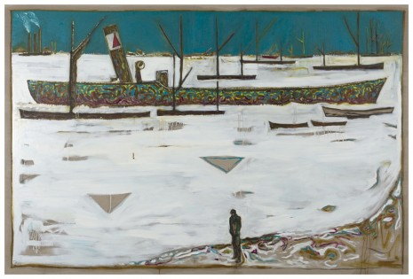 Billy Childish, Frozen Estuary - Off Chatham, 1895 (Version Y), 2012, Lehmann Maupin