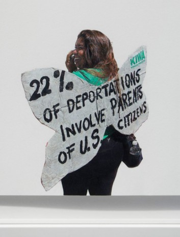 Andrea Bowers, 22% of Deportations Involve Parents of U.S. Citizens (detail), 2014, kaufmann repetto