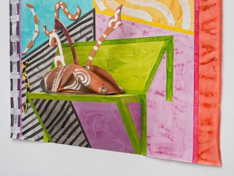 Betty Woodman, The Chartreuse Table (detail), 2014, David Kordansky Gallery