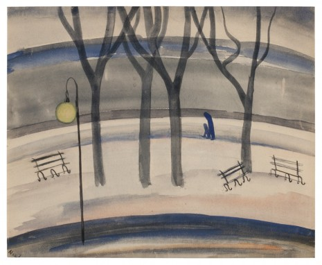 Alice Neel, Evening in Riverside Park, 1927, David Zwirner