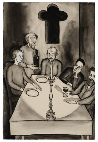 Alice Neel, Untitled (Karamazov, His Three Sons and the Servant Gregory), c. 1938, David Zwirner