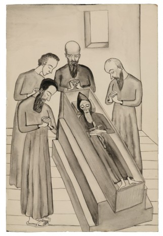 Alice Neel, Untitled (The Death of Father Zossima), c. 1938, David Zwirner