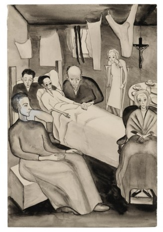 Alice Neel, Untitled (The Doctor's Visit to Ilyusha), c. 1938, David Zwirner