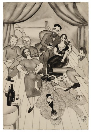 Alice Neel, Untitled (Grushenka and Mitya at the Drunken Party), c. 1938, David Zwirner