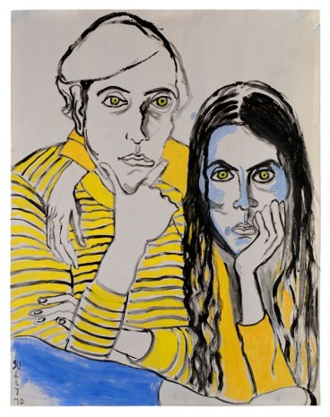 Alice Neel, Hartley and Ginny, 1970, David Zwirner