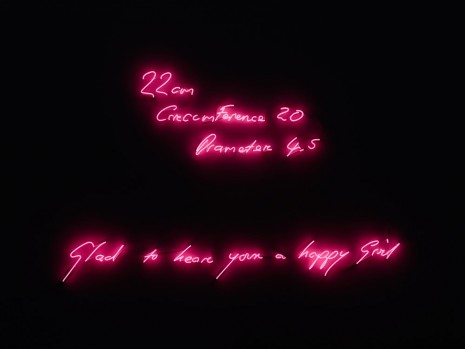 Tracey Emin, Very Happy Girl, 1999, Lehmann Maupin