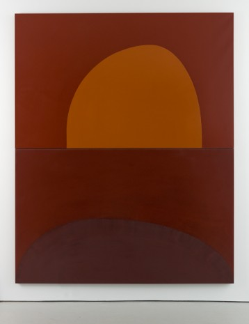 Suzan Frecon, embodiment of red (orange), 2013, David Zwirner
