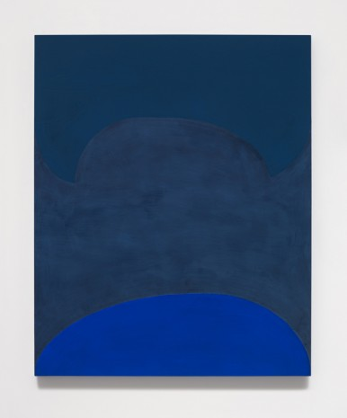 Suzan Frecon, lapis ordering adjacent blues, 2014, David Zwirner