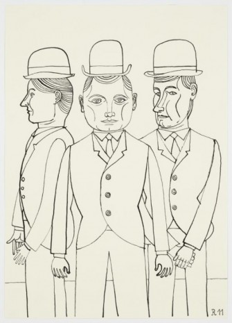 Christoph Ruckhäberle, Untitled (Three men – one glowering), 2011, Galleri Nicolai Wallner