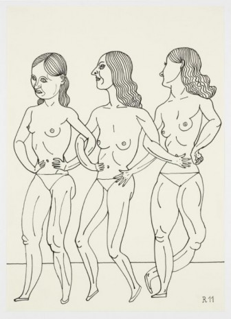 Christoph Ruckhäberle, Untitled (three women in underwear), 2011, Galleri Nicolai Wallner