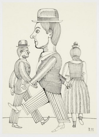 Christoph Ruckhäberle, Untitled (Two men in striped pants), 2011, Galleri Nicolai Wallner