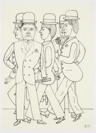 Christoph Ruckhäberle, Untitled (Five men in suits), 2011, Galleri Nicolai Wallner