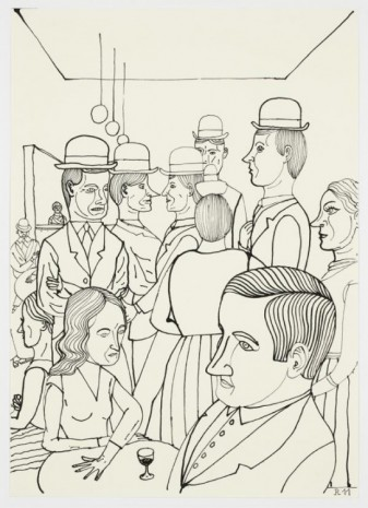Christoph Ruckhäberle, Untitled (Bar scene), 2011, Galleri Nicolai Wallner